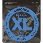 D'Addario Chromes ECG25 012 - 052 ST STEEL ground string for electric guitar