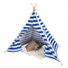 Types of style tent with strips
