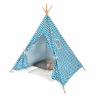Types of style tent with a green pattern