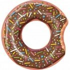 Inflatable wheel donut, brown
