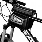 """Wildman ES6 Bicycle Holder / Front beam Bag with Touch Screen 4 """"- 7"""" with zipper Juodas"""