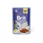 Brit Premium Delicate canned food for cats Beef in Jelly 24x85g (package)