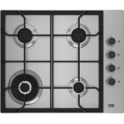 Beko HIBW64125SX hob Stainless steel Built-in 61 cm Gas 4 zone(s)