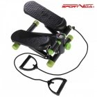HMS SportVida Twist Slope Stepper with ressistance ropes & LCD for Cardio & Body workouts Juodas