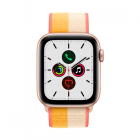 Smartwatch Apple Watch SE GPS + Cellular, 44mm Gold Aluminum Case with Bread / White Sport Loop