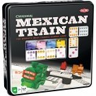 Tactic Mexican Train in a Metal Box domino game